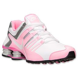 Women\u0027s Nike Shox Current Running Shoes | FinishLine.com | White/Pink Glow/