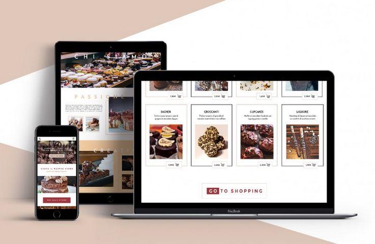 Chocolat | E-commerce food - Artwork di Martina Napolitano -  Area: #Web #Design - Categoria: #Sito #webdesign #mokup #sitovetrina - Corso: #corso #Ilas #Webdesign - Docenti: Marco Tramontano