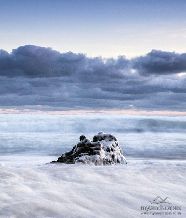 seascape -  foam and rock, goukamma beach, garden route, south africa