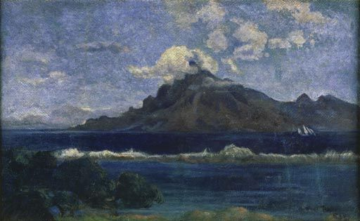 Paul Gauguin Tahiti   Titre de l'image : Paul Gauguin - Paysage de Te Vaa (Tahiti)
