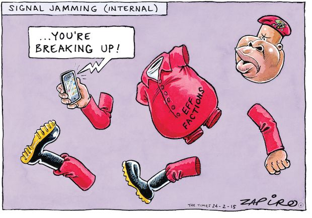 Zapiro - Is EFF Breaking into Factions? published in The Times on 24 Feb 2015