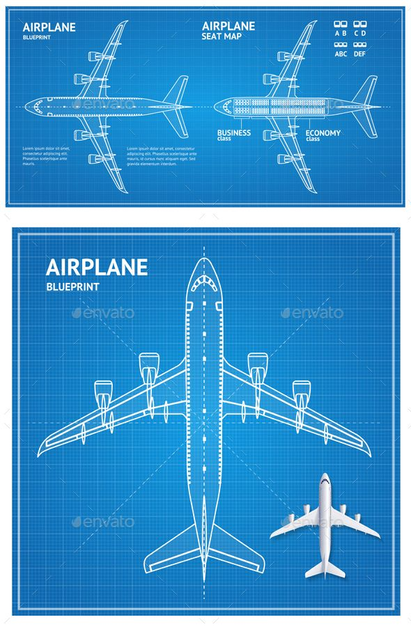 The 25 best blueprint font ideas on pinterest geometric font airplane blueprint plan top view malvernweather Choice Image