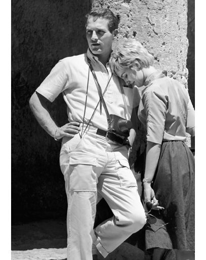 Newlyweds Paul Newman and Joanna Woodward in Israel in 1959.