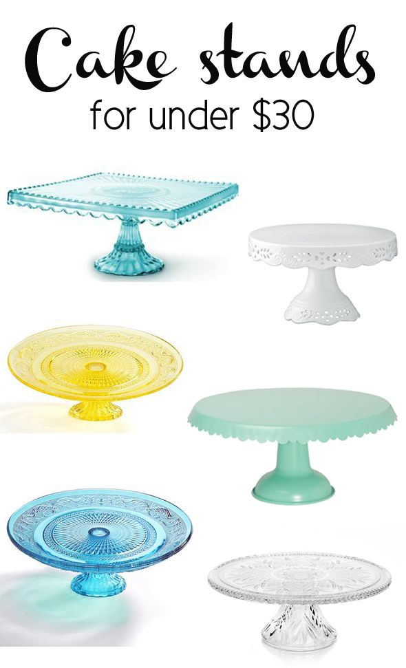 12 Cake Stands Under $30 - Pretty My Party #cake #stand #sale