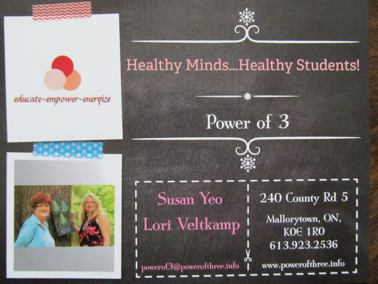 Exciting new multi-media, train-the-trainer program, teaching mental illness awareness to teens.  Register now or give us your contact information for upcoming sessions.  Click on Workshops at:  www.powerofthree.info
