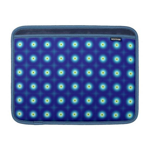 Blue Circles MacBook Air Sleeves #MacBook #Sleeve #Blue #Fractals #Zazzle #Rickshaw #Sleeves
