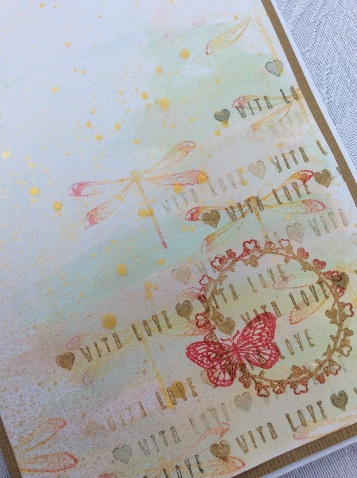 Demo card close up - using free stamps from the June issue of Creativity magazine