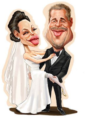Brad Pitt and Angelina Jolie wedding (by Niall O'Loughlin)~♛