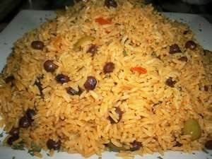Yellow Rice w/pigeon peas and green olives
