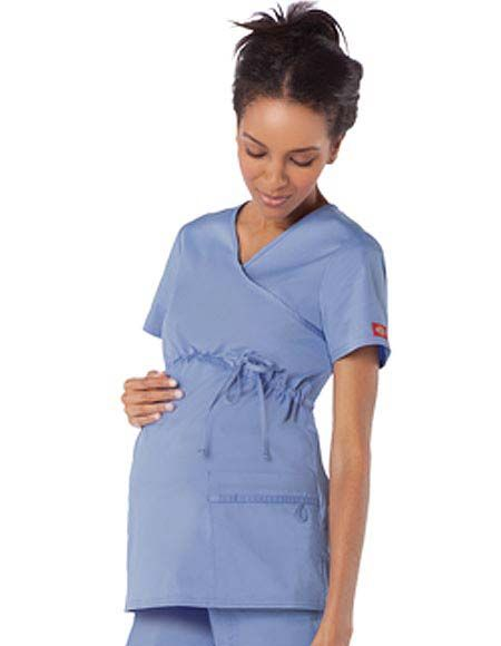 Style Code: (DI-85900) Dickies Gen Flex comes up with this Maternity Mock Wrap Top in v-neckline has a front adjustable drawstring to the catch the most comfortable fit particularly for an expectant mom. Patch pockets are meant for storing purposes moreover its multi-sectional utility loops are designed to sort out random handy tools while within the pocket.