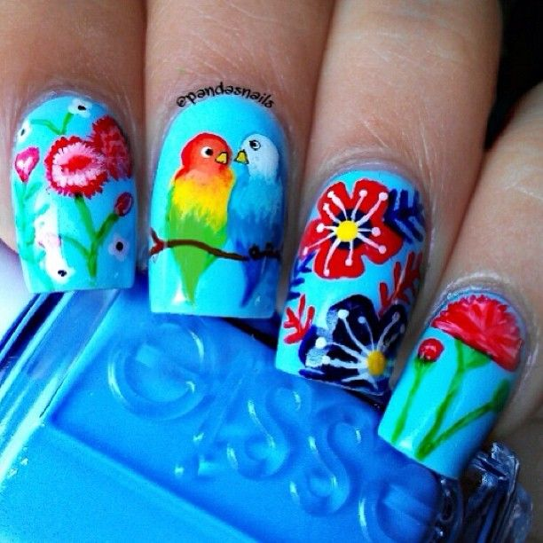 Love Birds Nail Art: Best 25+ Bird Nail Art Ideas On Pinterest