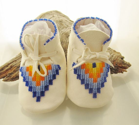 Native american beaded baby moccasins in a by authenticnativemade 58