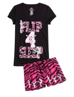 ZEBRA GYMNAST PAJAMA SET | GIRLS SETS PAJAMAS & ROBES | SHOP JUSTICE