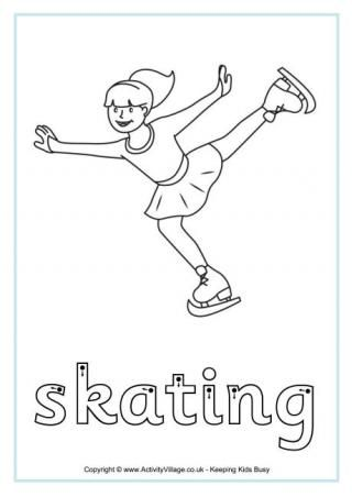 Free Winter Olympic Finger Tracing Printables (plus other handwriting printables) from Activity Village