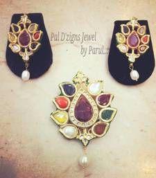 Pal D'zigns - High End Jewelry - Nawab Navrattan Kundan Set