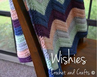 Crochet bebé manta manta del bebé ganchillo ondas manta del