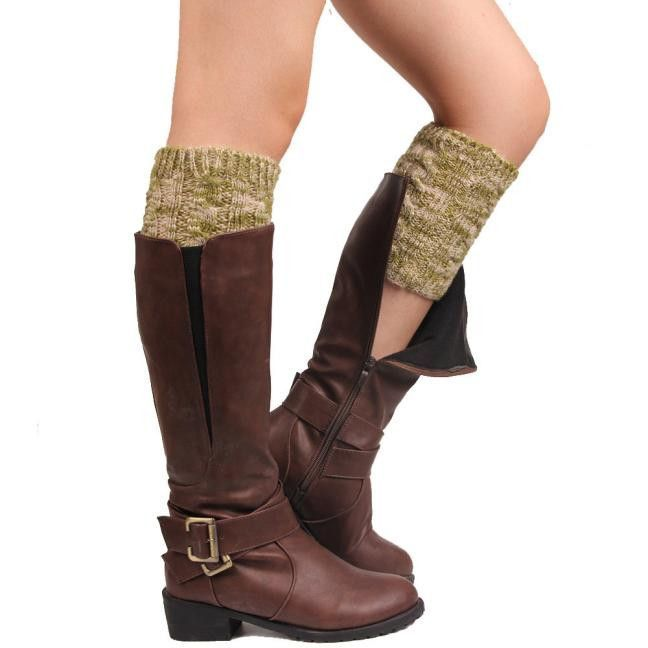 Over Knee Leg Warmers Women Geometric Stone Pattern Embossing Winter Warm Legging Tricot Fille Hiver #2827
