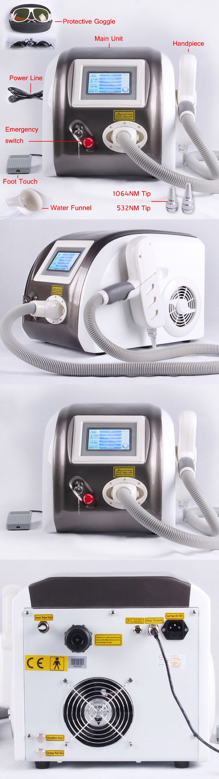 Tattoo Removal Machines: Portable Q-Switch Nd: Yag Laser Tattoo Removal Machine With 1064Nm And 532Nm -> BUY IT NOW ONLY: $1380.0 on eBay!