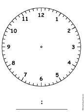 Blank clocks to practice telling time