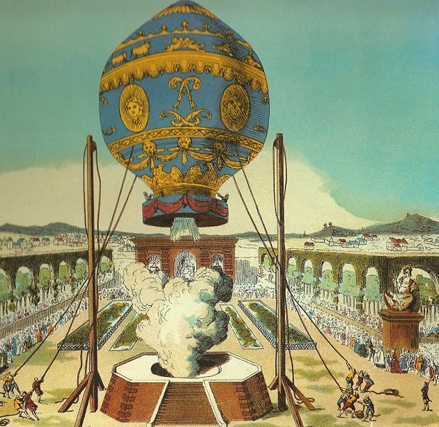 The Mongolfier Brother's hot Air Balloon (1783)