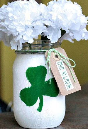 Click pic for 50 St Patricks Day Crafts for Kids - Mason Jar Centerpiece  | Easy Crafts for Kids