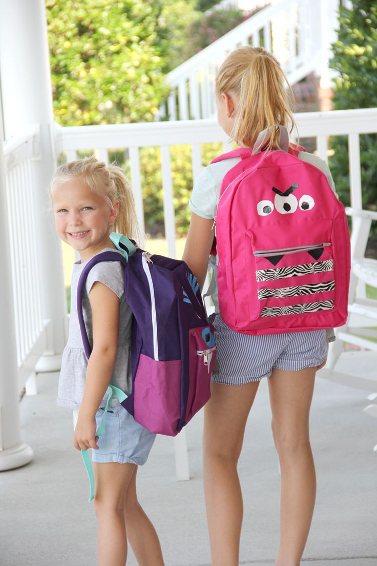 Keep your kids excited to be back in school with these cute and simple no-sew DIY duct tape monster backpacks. This project by Sewing Rabbit is perfect to get your kids to be creative, too!