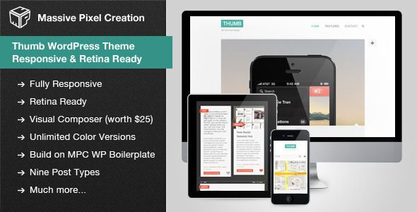 Thumb WordPress Theme - Responsive & Retina Ready