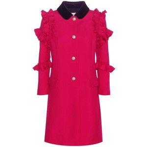 Gucci Wool Flounce Coat