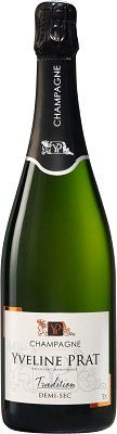Champagne demi sec Yveline Prat  - Parfait pour accompagner vos desserts - perfect to share with a dessert or sweet treat