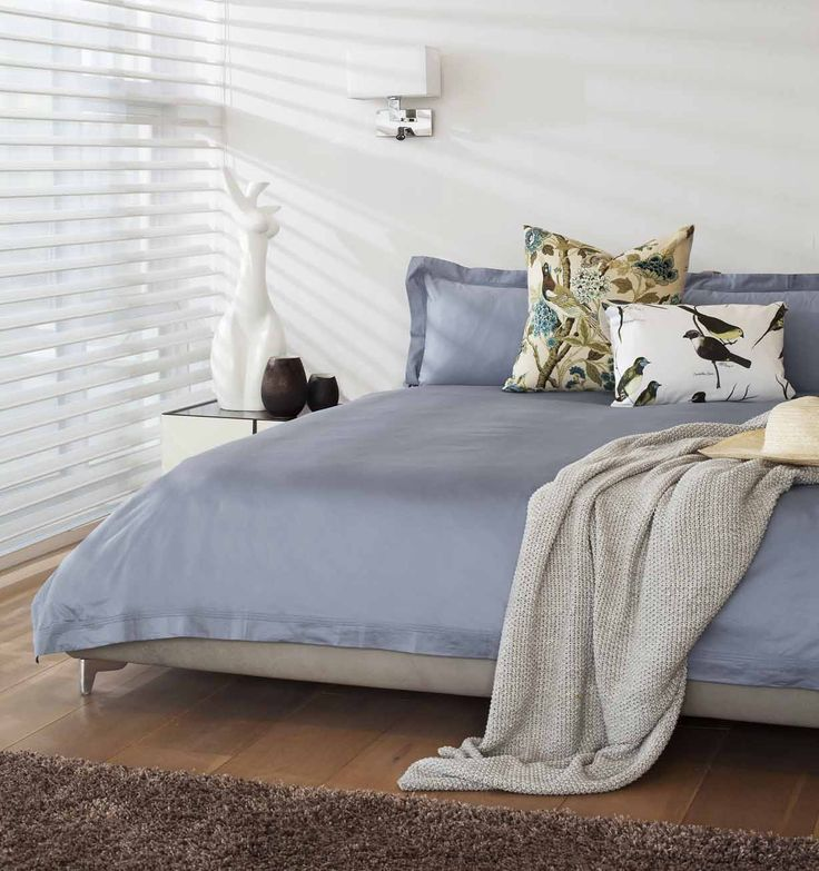 """Our beautiful new colour """"sky blue"""" in 300TC Egyptian Cotton that arrives in Loads of Living stores - August 2014"""