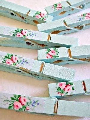 Decorated clothespins #belledujour
