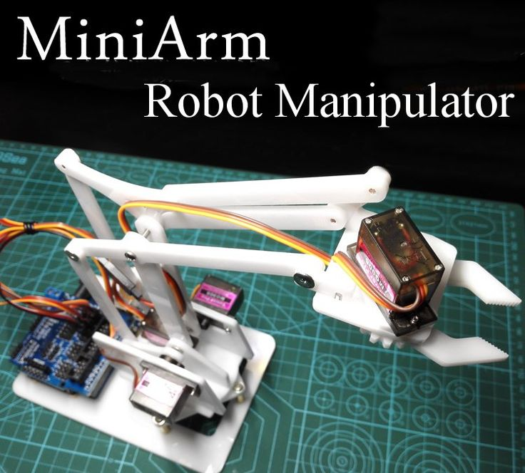 4DOF DIY MiniArm Robot Manipulator Robot Arm with Arduino UNO R3