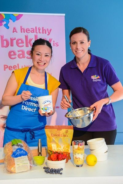 Poh Ling Yeow and Natalie Bode at the West Torrens Biggest Breakfast