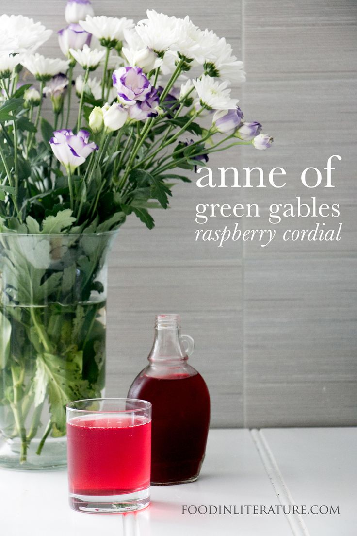 Whether you're taking a step back to your favourite childhood book, or sharing it with your own daughter, make this easy recipe of Marilla's raspberry cordial to go with your next reading of Anne of Green Gables. http://foodinliterature.com/food-in-literature/2016/05/marillas-raspberry-cordial-anne-green-gables.html