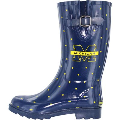MUST  HAVE THESE!!! University of Michigan Polka Dot Womens Rain Boots