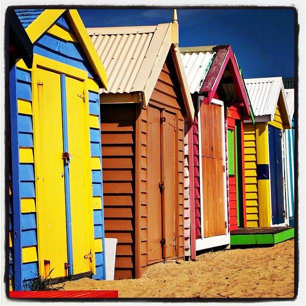 Brighton Beach Bathing Boxes, Melbourne Victoria, Australia by creativeholidays