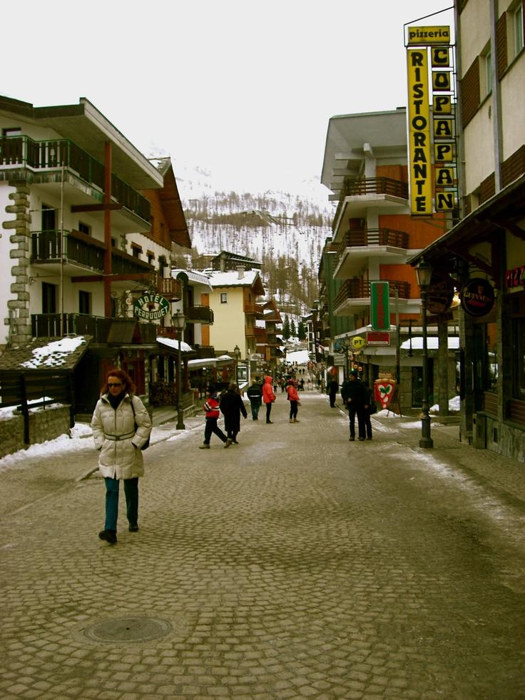 Cervinia, Italy winter ski town