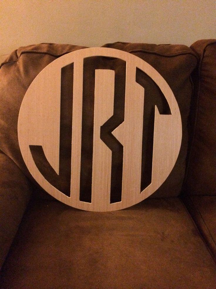Reverse Circle Monogram We Cut On Our Cnc Router Cnc