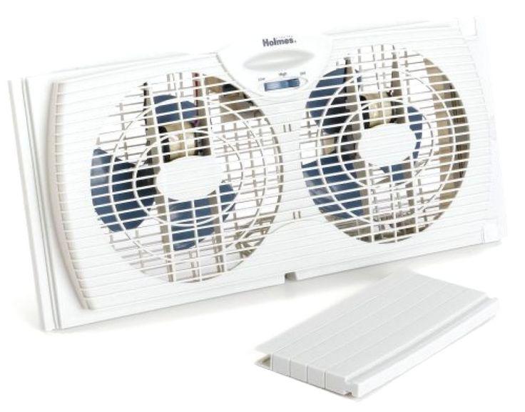 New holmes dual blade twin window fan white free shipping