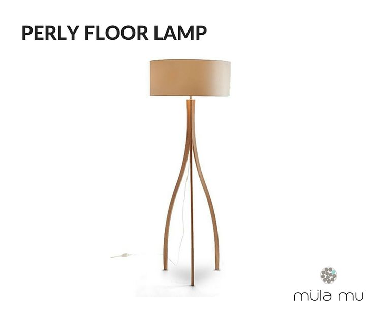 The PERLY is both modern and classic. The tripod adds visual interests to your space.  Crafted in solid ash wood.  *Price does not include light bulbs. http://www.mulamu.com/product/perly-floor-lamp/
