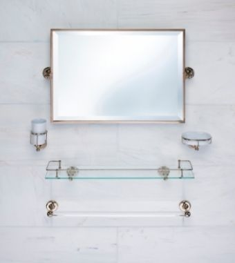 Best Photo Gallery For Website Samuel Heath unlacquered brass accessories towel bar and mirror