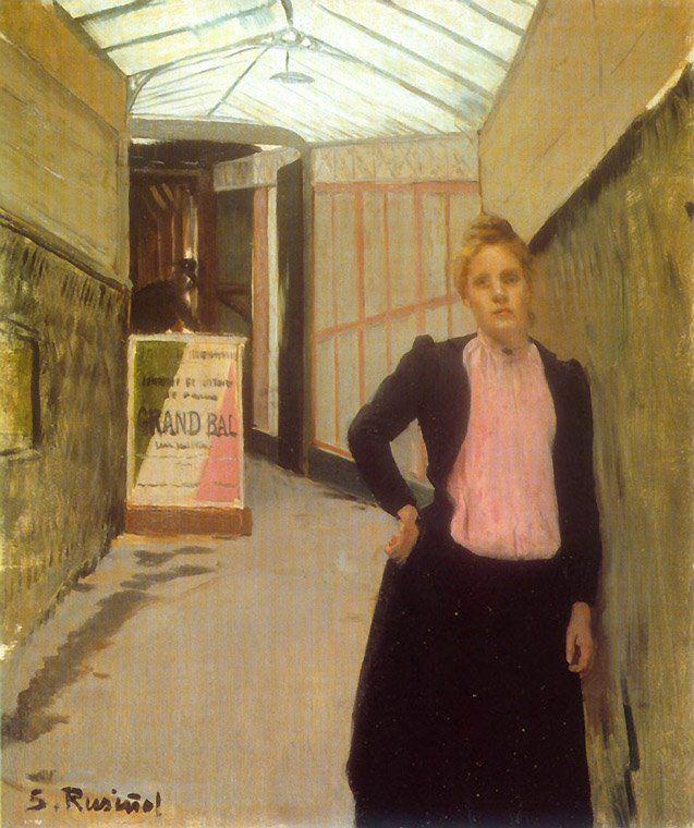 Ticket Seller at the Moulin de la Galette Dance Hall, 1890 by Santiago Rusinol (1861-1931) ~Via Samy Odin