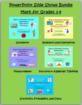 Math PowerPoint Slide Shows BUNDLE for Grades 3-4 (aligned to CCSS) save $$ with bundle