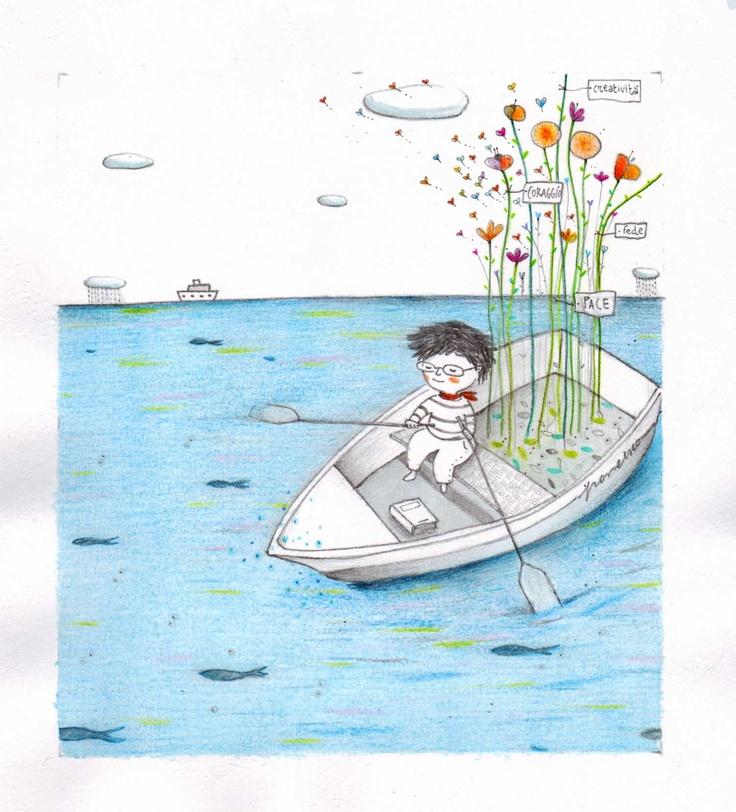 Francesco e il mare - bomboniera per comunione - Francesca Quatraro 2012