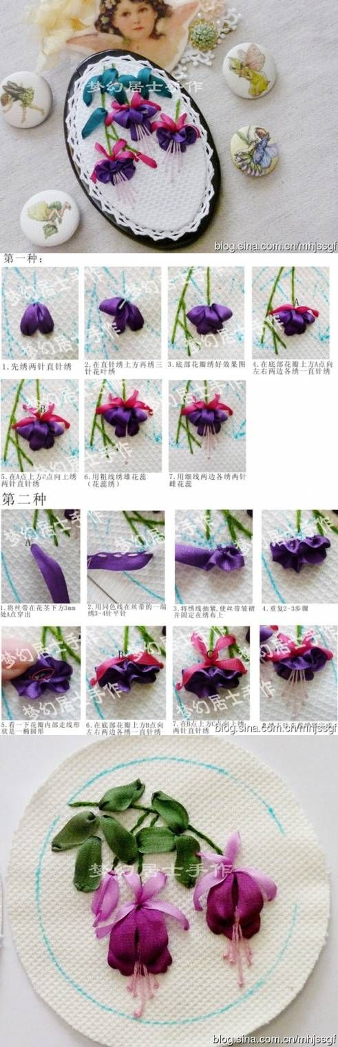 DIY Hand Ribbon Embroidery
