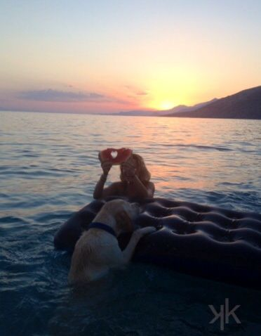 Me & eLviS  Enjoying the sea Psatha, Greece