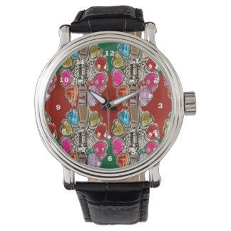 Pink Heart Red Purple Sparkle LowPRICE Artistic 99 Watch