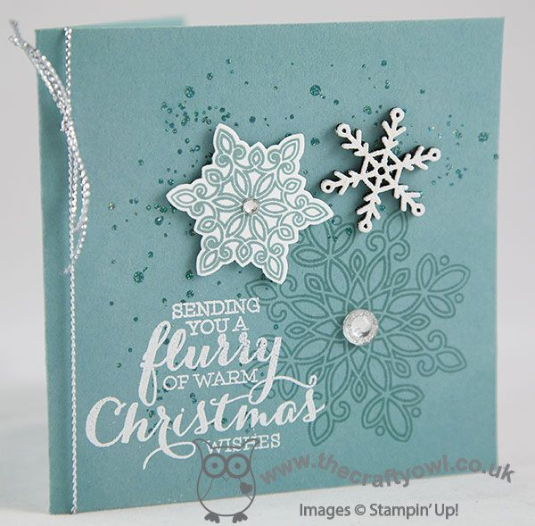 #flurryofwishes #snowflurrypunch #snowflakeelements The Crafty Owl | Flurry Of Wishes Lost Lagoon Christmas Card