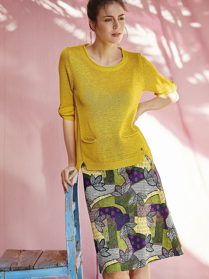 Womens canary yellow rosie jumper from White Stuff - £45 at ClothingByColour.com