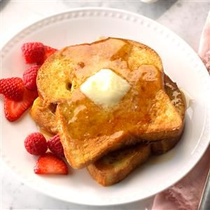 Vanilla French Toast Recipe -We discovered this recipe in Mexico. We couldn't figure out what made the French toast so delicious until we learned the secret was vanilla—one of Mexico's most popular flavorings. Since then, we've added a touch of vanilla to our waffle and pancake recipes, and it makes all the difference. —Joe and Bobbi Schott, Castroville, Texas